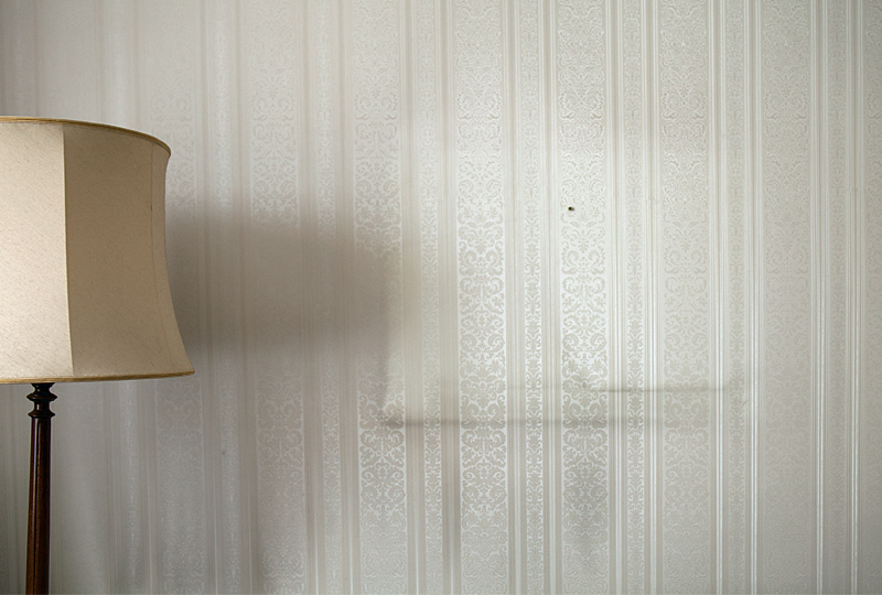 lampshade, wallpaper, interior, the past