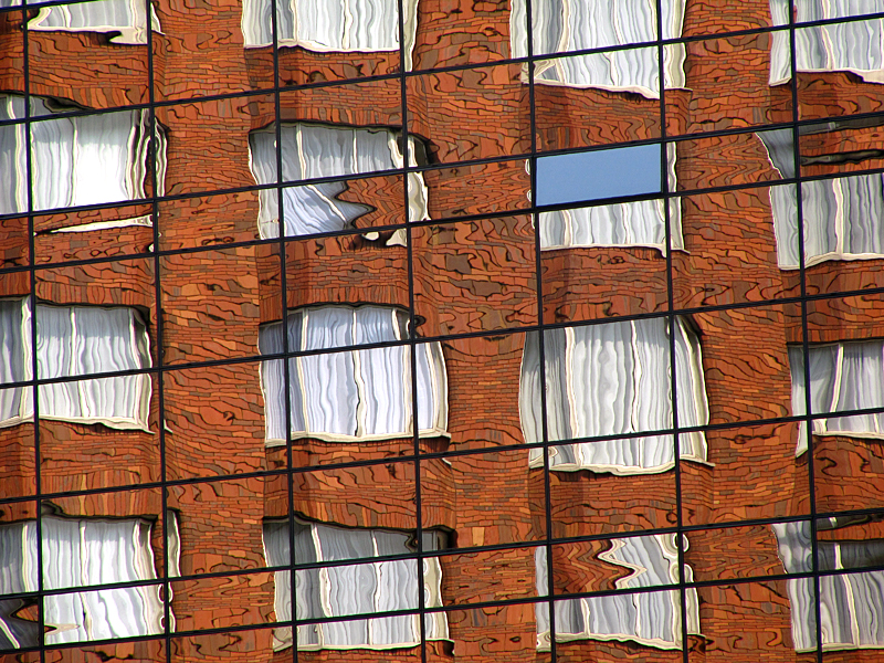 Window reflection, Dublin inner city, architecture