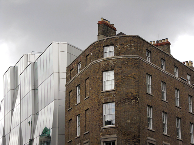 Dublin inner city, old and new architecture